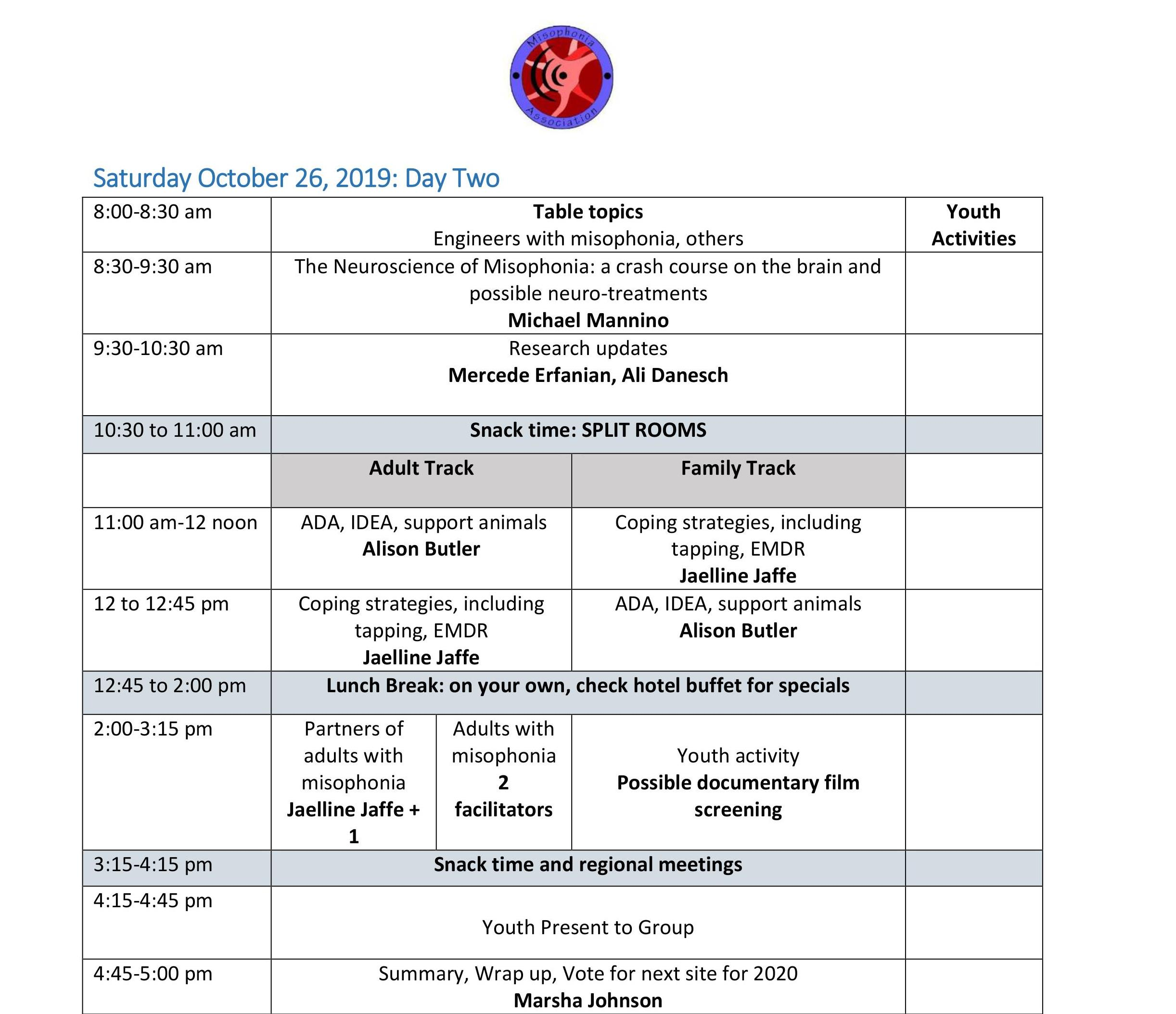 Draft convention schedule page 2